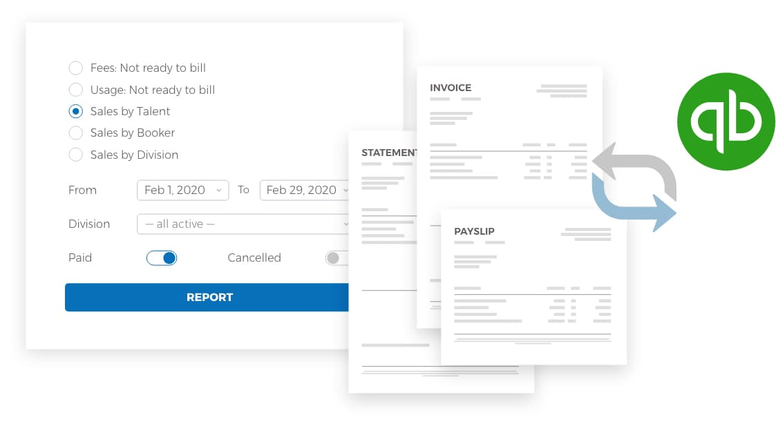 Portfoliopad invoicing, financial reports and talent statements manages your agency accounts